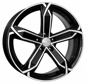 Диск КиК X-fighter 19x8,0 5x105 ET35 56,6 алмаз черный