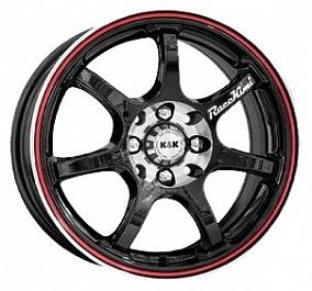 Диск КиК Race Kimi 17x7,0 5x112 ET40 66,6 алмаз черный