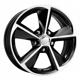 Диск КиК KC681 (Optima) 16x6,5 5x114,3 ET41 67,1 алмаз черный