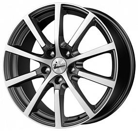 Диск iFree Big Byz 17x7 5x100 ET45 54,1 блэк джек