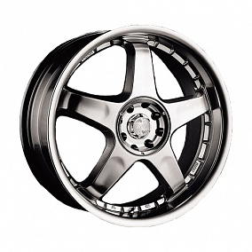 Диск Racing Wheels H-115 15x6,0 5x114,3 ET40 66,1 BK/FP